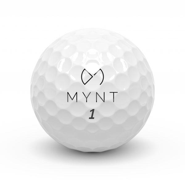 MYNT golf ball logo front