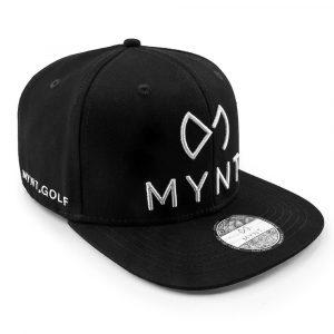 MYNT No.1 Golfcap in Schwarz mit Weiss