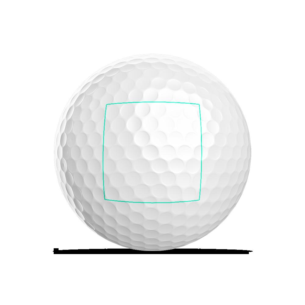 Golfball quadratisches Logo