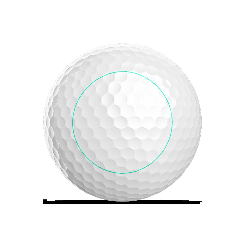 Golfball Logodruck Radius