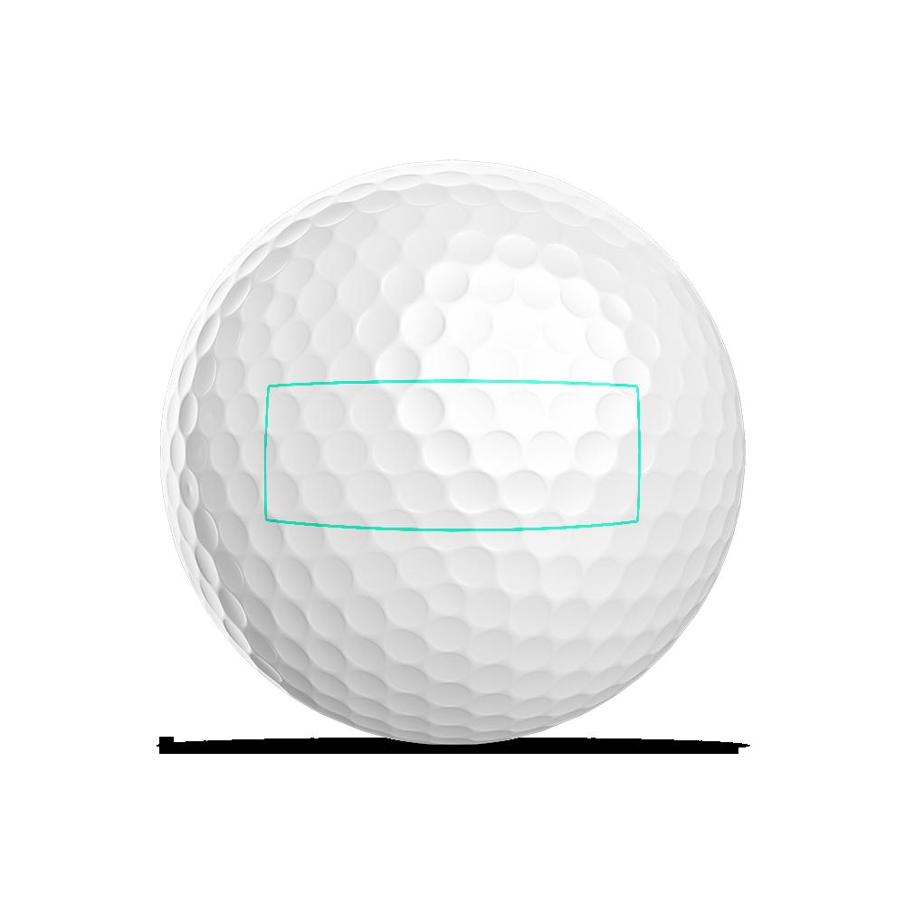 Rechteck für Golf Logoball