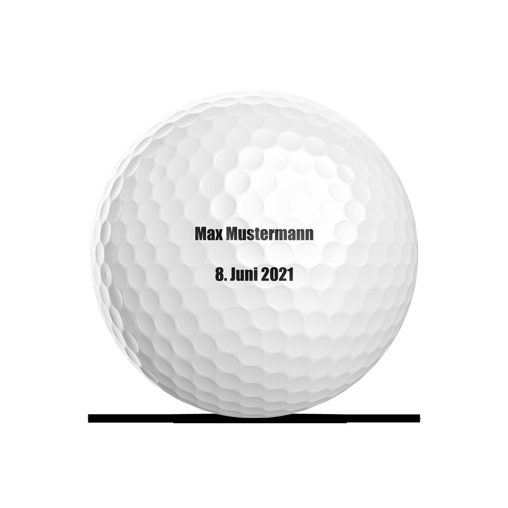 Text drucken auf Golfball